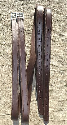 Double Lined English Hunt Stirrup Leathers Chestnut Brown Horse Tack HUS AQHA