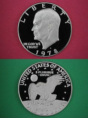 1978-S Deep Cameo Proof Clad Eisenhower Ike BU Dollar Flat Rate Shipping