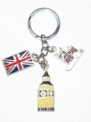 BRITISH Flag Big Ben Cathedral Metal Alloy KEY CHAIN Ring Keychain NEW