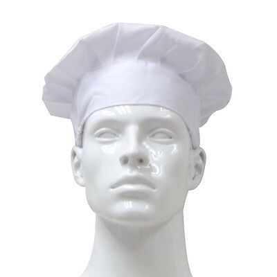 Chef Hat Cook BBQ Grilling Kitchen Uniform Cooking Baker Cloth Adult Hat White