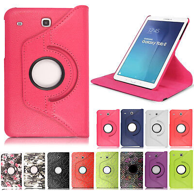 Leather Rotating Smart Case Cover for Samsung Galaxy Tab E 9.6 T560