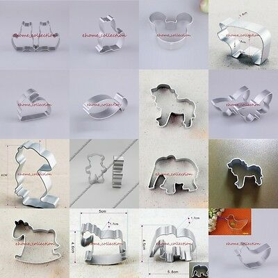 New 12 Kinds Animal Fondant Cake Cookies Cutter Mold Biscuit Baking Mould Tool