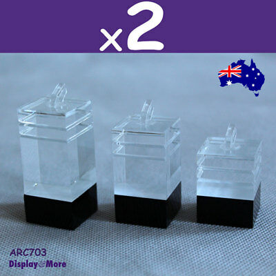 PREMIUM QUALITY 6X Ring Display Holder Stand-Solid Acrylic | AUSSIE Seller