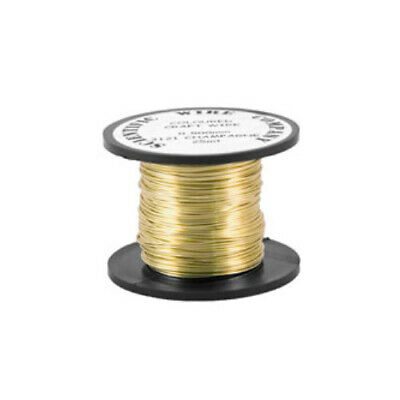 1 x Pale Gold Plated Copper 0.9mm x 5m Round Craft Wire Coil W3121