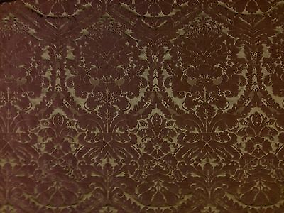 Faux Silk Damask Coffee Brown Woven Curtain Soft Furnishing Dressmaking Fabric