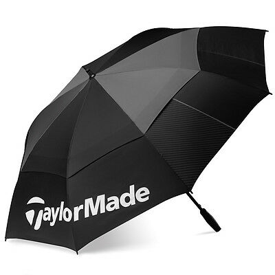 "Taylormade Golf 2016 TM Double Canopy 64"" Tour Umbrella - Black/Grey"