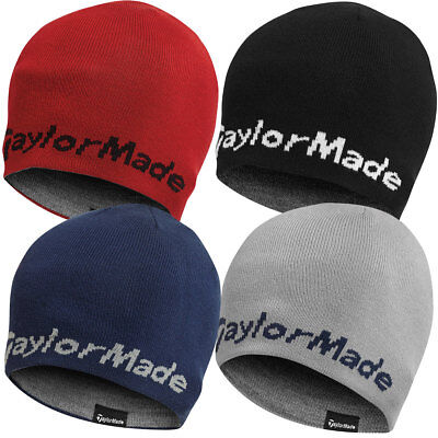 TaylorMade Golf 2016 Unisex Reversible Tour Beanie Hat Winter Thermal