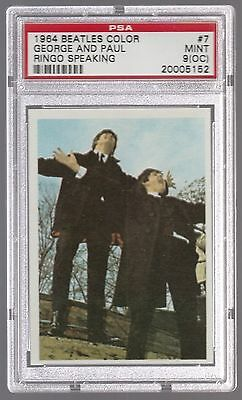 1964 The Beatles Color George Paul Ringo Speaking Card #7 Psa 9 (Oc) Mint