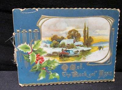 O God the Rock of Ages Vintage Art Lithographic Co #38931 Christmas Booklet