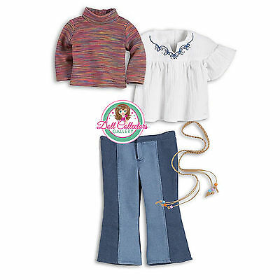 """American Girl JULIE CLASSIC MEET OUTFIT in Bag 4 PC for 18"""" Dolls Pants Belt*"""