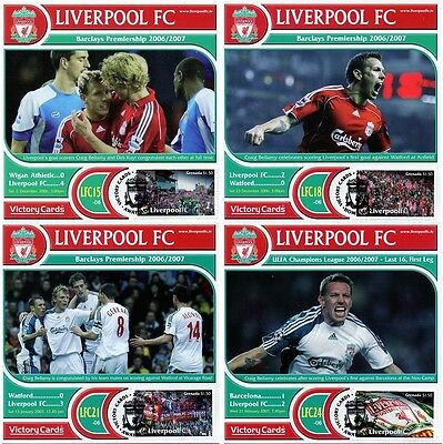 CRAIG BELLAMY Liverpool FC Football Club Collectors Stamp Victory Cards (x4)