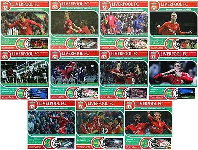 PETER CROUCH Liverpool FC Football Club Collectors Stamp Victory Cards (x11)