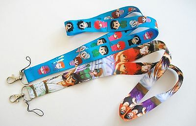 2 Yu Yu Hakusho & Characters Fabric Lanyard Key Chain Set ~ Japan Anime ~