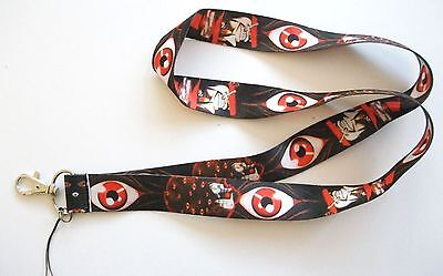 Anime Hellsing Alucard Black Color Fabric Lanyard Key Chain Strap