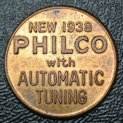1938 NEW PHILCO (Raidio)Automatic Tuning Anniversary GOOD LUCK CELEBRATION TOKEN