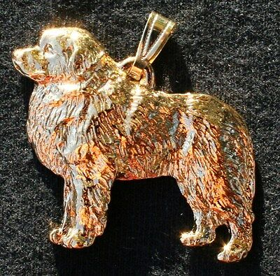 GREAT PYRENEES Dog 24K Gold Plated Pewter Pendant Jewelry USA Made