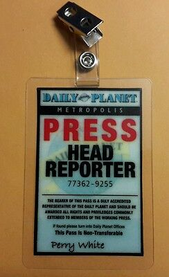 Superman Smallville ID Badge-Daily Planet Press Head Reporter prop cosplay