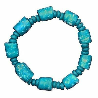 Handmade Recycled Glass Marble Bracelet in Teal