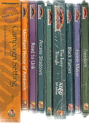 Tsr Ad&d Dark Sun Campign Boxed Sets & Books Variable Multilisting Dungeons