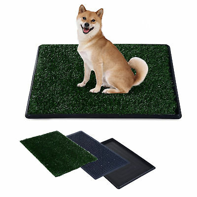 PawHut Dog Toilet Pet Puppy Potty House Training Indoor Trainer Grass Mat Tray