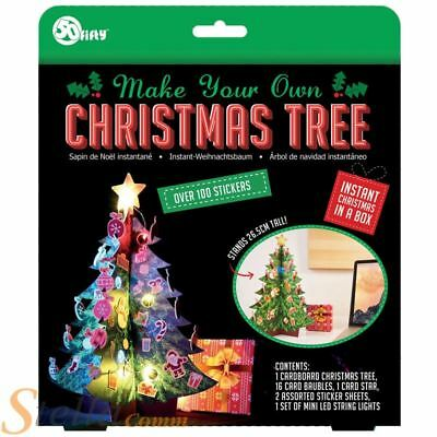 Make Your Own Christmas Tree Decoration Art Craft Gift With Lights & Stickers