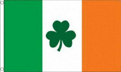 IRELAND SHAMROCK FLAG 5' x 3' Irish Eire Rugby Football Happy St Patricks Day