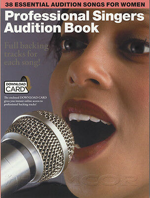 Professional Singers Audition Female Vocal Sheet Music Book with Audio