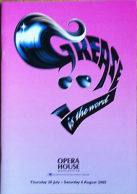 Grease Is The Word Opera House Theatre Programme 2005