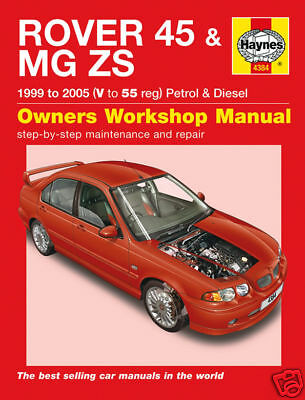 Manuale Haynes Rover 45 & MG ZS Benzina Diesel 1999-2005 4384 NUOVO