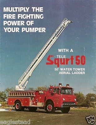 Fire Equipment Brochure - Snorkel - Tele Squrt 50 - 1978  (DB92)