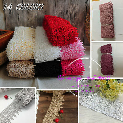 1 Yards Lace Trim Ribbon For Dress Skirt Veil Embroidered DIY Sewing Craft FL54