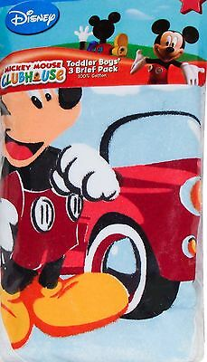 Disney Mickey Mouse Toddler Boys Briefs Underwear 3pk