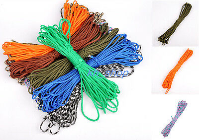 25FT - 300FT 550 Paracord Parachute Cord Lanyard Desert Bushcraft Survival Rope
