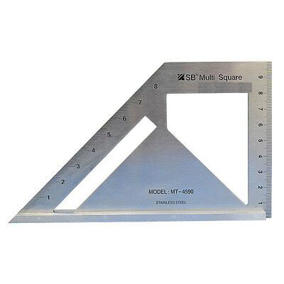 SB Corp MT-4590 Square Miter Angle Woodworking Tool Stainless Steel