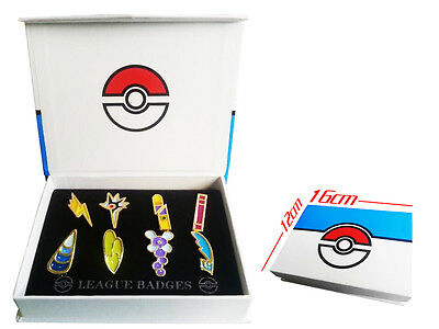 Pokemon Gen 5 Unova League Gym Badge Pin Brooch Pip Cosplay Gift Collection Set