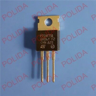 10PCS MOSFET Transistor ST TO-220 STP75NF75 P75NF75