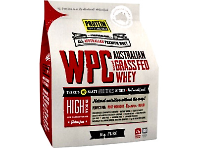 PROTEIN SUPPLIES AUSTRALIA Whey Protein Concentrate WPC Pure 3kg  * FREE POST