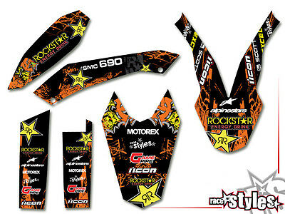 KTM 690 SMC SMC/R ENDURO (08-17) | FACTORY DEKOR DECALS KIT STICKER graphics