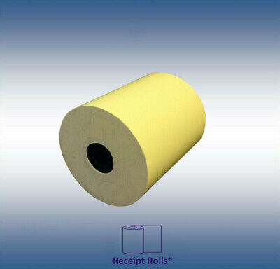 "3"" x 165' 1-Ply Canary Bond Cash Register Receipt POS Paper - 50 Rolls"