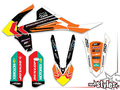 KTM SXF EXC XC 85 125 250 300 350 450 500 MX decals dekor grafiche graphique kit