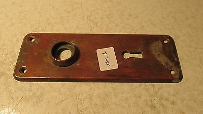 Antique Stamped Brass  Door Plate  No. 6