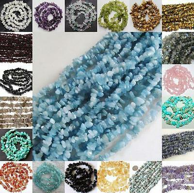 5-8mm Natural Freeform loose beads strand  gemstones DIY jewelry making 16""