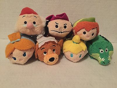 IN HAND NEW Authentic US Disney Parks Peter Pan Tsum Tsum SET of 7 Mini Plush
