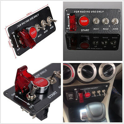 12V Car Auto or Power Speediness & Racing Cars Red LED Engine Start Push Button