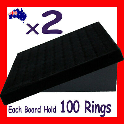 NEW 2X Foldable Ring Display Holder Board Stand-Black Velvet | AUSSIE Seller