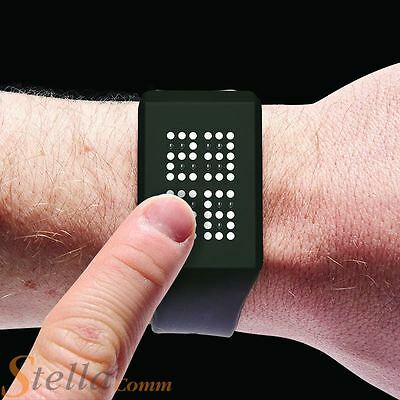 Blink Time TOUCH Sensitive Digital Dot Matrix LED Watch With Silicone Strap