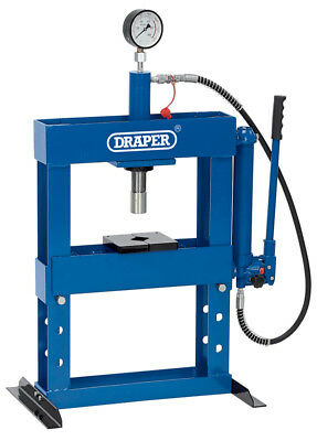 Draper 10 Tonne Hydraulic Bench Press with High Pressure Pump Workshop Tool