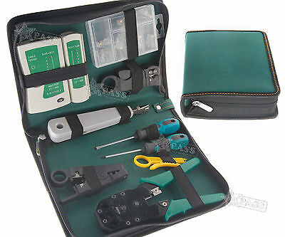 RJ45 RJ11 Cable Hand Tool Crimper Network Tool Kit Small Card Knife