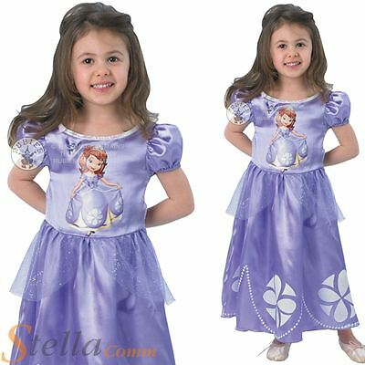 Girls Licensed Disney Sofia The First Princess Fairytale Fancy Dress Costume