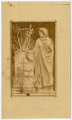 Antique Print-IN MEMORIAM-DIEPENBROCK-HEADSTONE-BURIAL-Huib Luns-1921